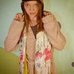 Batik Bomber Hat & Tie Dyed Knit Pocket Scarf
