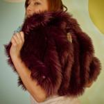 Back Detail on Batik & Monster Fur Shrug